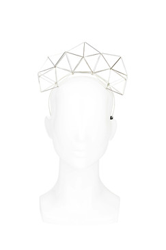 Jemaa - Silver Geometric Headband by Lady of Leisure Millinery