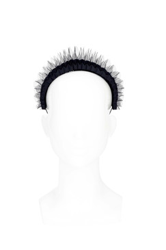 Akbar - Black Tulle Origami Crown Headband by The Season Hats