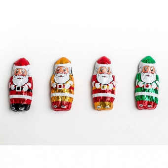 16 oz. Milk Chocolate Foiled Santas