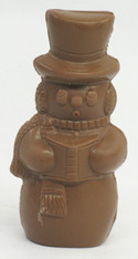 "5 "" Semi Solid Milk Chocolate Snowman"