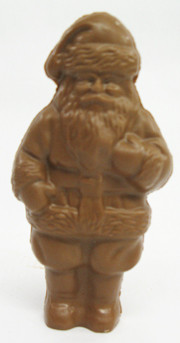 "7"" Milk Chocolate Semi Solid Santa"