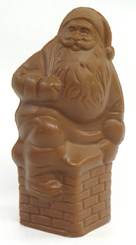 10' Milk Chocolate Semi Solid Chimney Santa