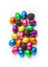 16 oz. Dark Chocolate Lee Sims foiled eggs