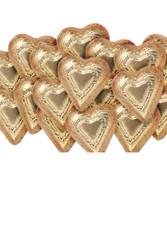Foiled Dark Chocolate Hearts