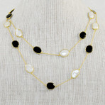 Mother of Pearl & Black Onyx Necklace