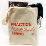 Practice Conscious Living Tote Bag