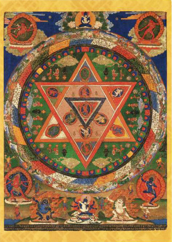 Mandala of the Buddhist deity Vajravarahi, 1869