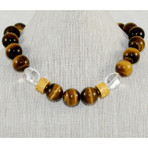Tiger Eye and Turkish Beads Necklace
