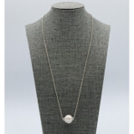 18mm Freshwater Pearl 'Floater' With Silver Chain