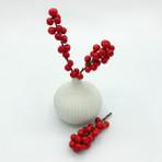 White Small Bulb Vase