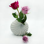 White and Blue medium Palm Vase