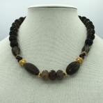 Agate, smokey quartz Necklace