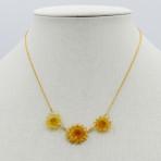 Dandelion Necklace, 3 flowers