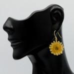 Dandelion Drop Earrings