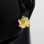 White Water Lily Post Earrings