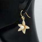 Orange Blossom Flower Drop Earrings
