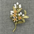 Orange Blossom Brooch