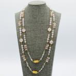 Pink Quartz Long Necklace