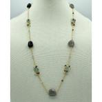 Multi Stone Long Necklace