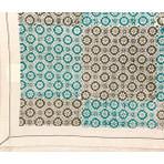 Okra Teal Tablecloth