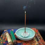 White Lotus/Blue Green Bowl Incense Holder