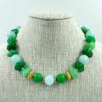 Agate, Angelite & Turkish Vermeil beads Necklace