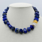 Lapis and Coin Pearls Necklace