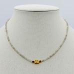 Labradorite and Garnet Necklace