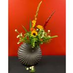 Large Black Palm Vase