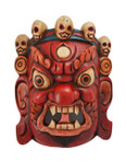 10.5 in Wooden Mahakala Mask