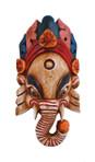 Wooden Ganesh Mask ― White