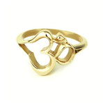 18k Gold Plated OM Ring
