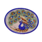 Sm Peacock Blue Oval Soap Dish