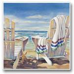Watching the Surf from a pair of Beach Chairs
