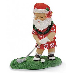 Christmas Ornament Santa Playing Golf 13050000