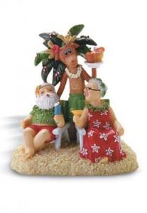 "Christmas Ornament ""Holiday Hour"" Santa Mrs Claus - 13057000"