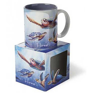 Sea Turtle Ceramic Mug in Gift Box Blue 13340000