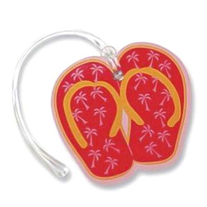 Red Flip Flop Luggage Tag 13470000