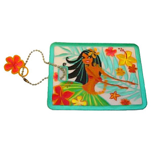 Island Hula Honeys Embroidered Luggage Tag 13570000