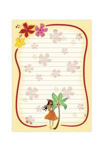 Hula Dancer Lined Note Pad - 27031000