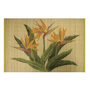 Bamboo Bird of Paradise Painted Placemat Set of 4 - 1892504000