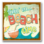 Beach Party Time - Single Absorbent Coaster - 02-203