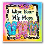 Wipe Your Flip Flops - Single Absorbent Coaster - 02-583
