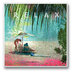 Relax at the Beach III - Single Absorbent Coaster - 02-709