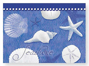 Boxed Note Cards Blue Water Shells 12 Per Box 08-239