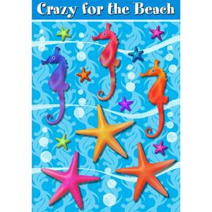 Seahorse and Starfish Garden Flag 0960FM