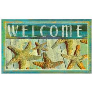"Starfish Theme Welcome Floor Mat MatMates ""Jewels of the Sea"" 12320D"