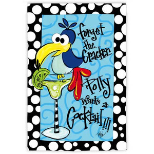 Polly Wants a Cocktail Garden Flag 14S2507