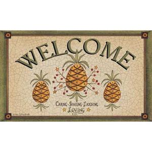 Pineapple Welcome Floor Mat 1554M