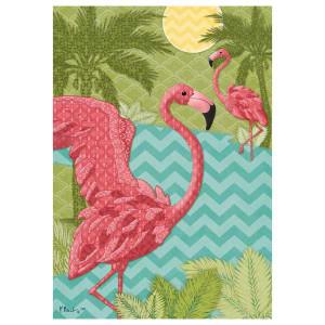 Pink Flamingo Island Garden Flag 1944FM